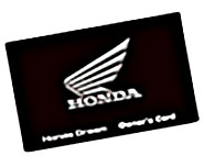 Honda DREAM Owner's Card